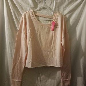Xhilaration Blush Pink V-Neck Back Crop Top XL NWT
